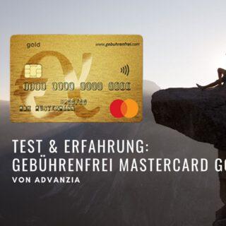 Titel Test& Erfahrung gebührenfrei mastercard gold advanzia