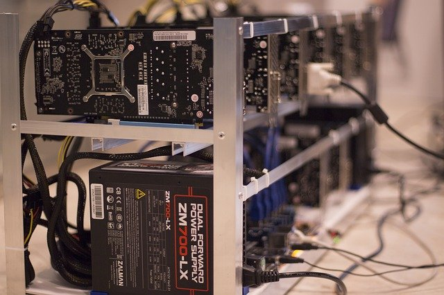 Mining Rig für Kryptowährung